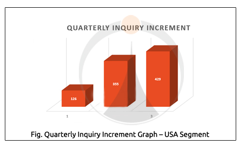 Quarterly Inquiry Increment Graph USA Segment